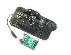 画像2: 【新品/即納】ハイモンド TC-701 (TC701) 練習専用 発振器内臓(006P電池使用)縦振れ電鍵 小型モールド台 CW モールス練習/HI-MOUND CW・モールス/パドル